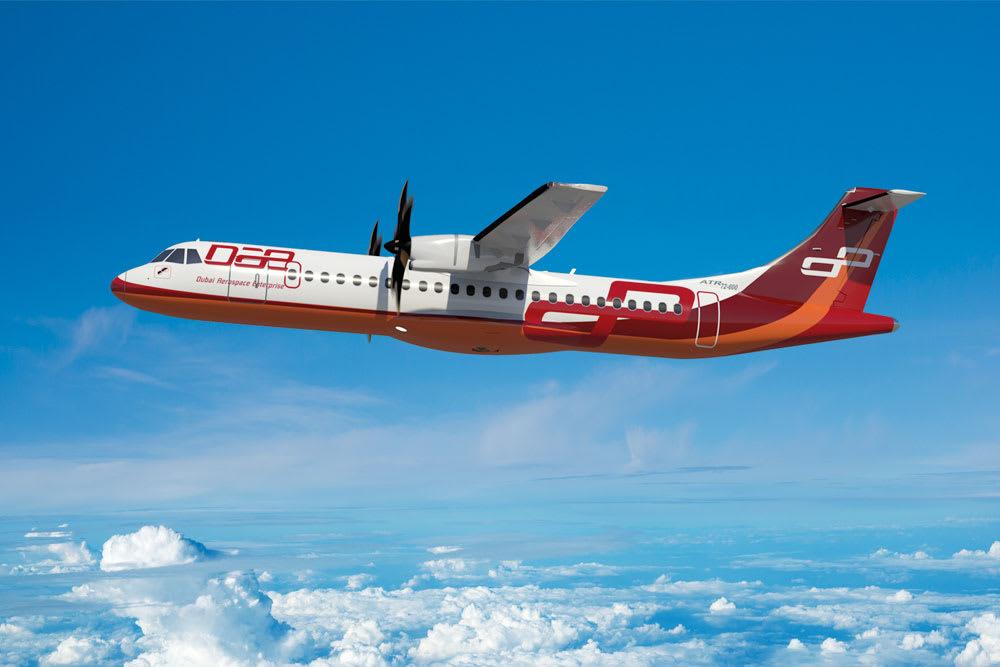 إحدى طائرات شركة دبي لصناعة الطيران