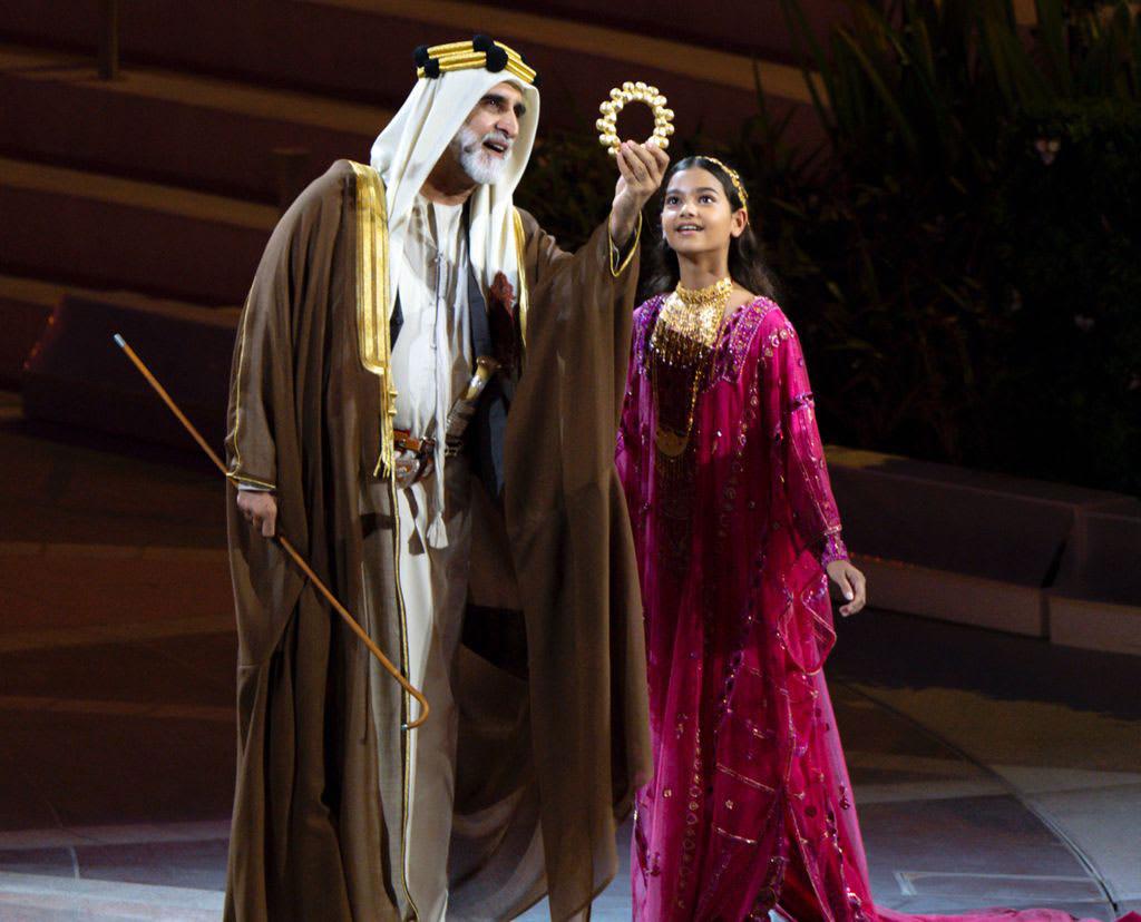 الطفلة ميرا سينغ في حفل افتتاح إكسبو 2020 دبي