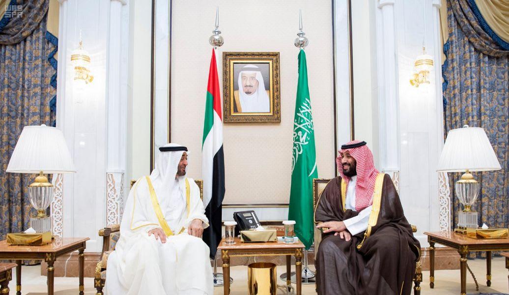 ولي العهد السعودي محمد بن سلمان وولي عهد أبو ظبي محمد بن زايد