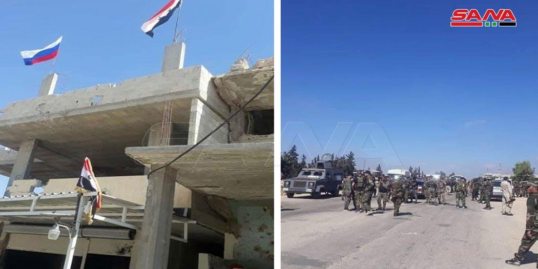 وحدات الجيش السوري تدخل منطقة درعا البلد