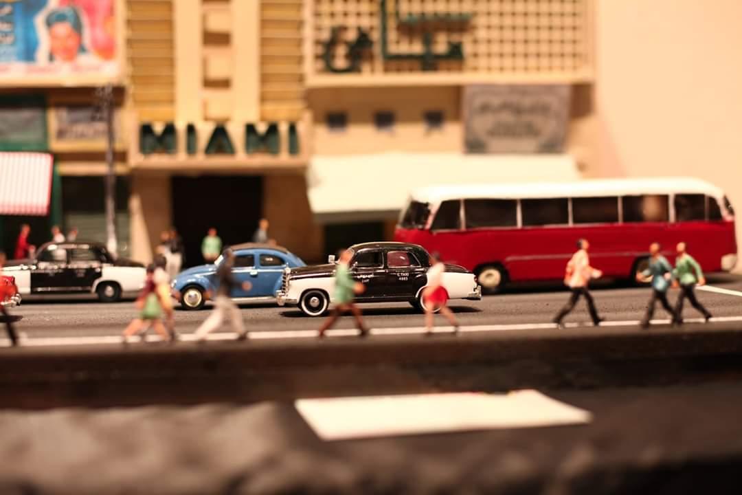 نموذج مصغر لشوارع القاهرة في الستينيات