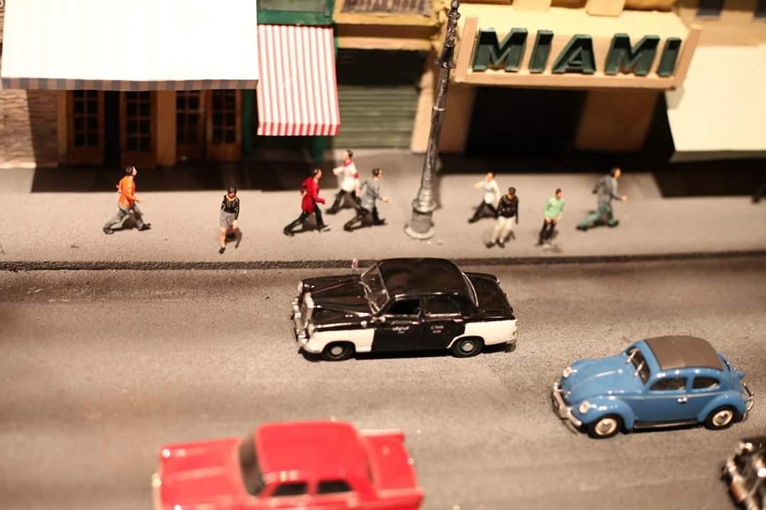 نموذج مصغر لشوارع القاهرة في الستينات