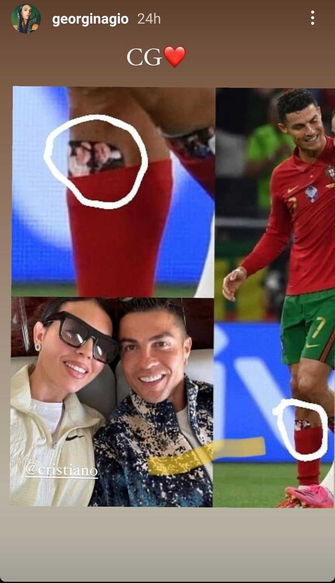 """""""تميمة حظ"""".. جورجينا تكشف ما يضعه رونالدو في جرابه أثناء خوض مباريات اليورو"""