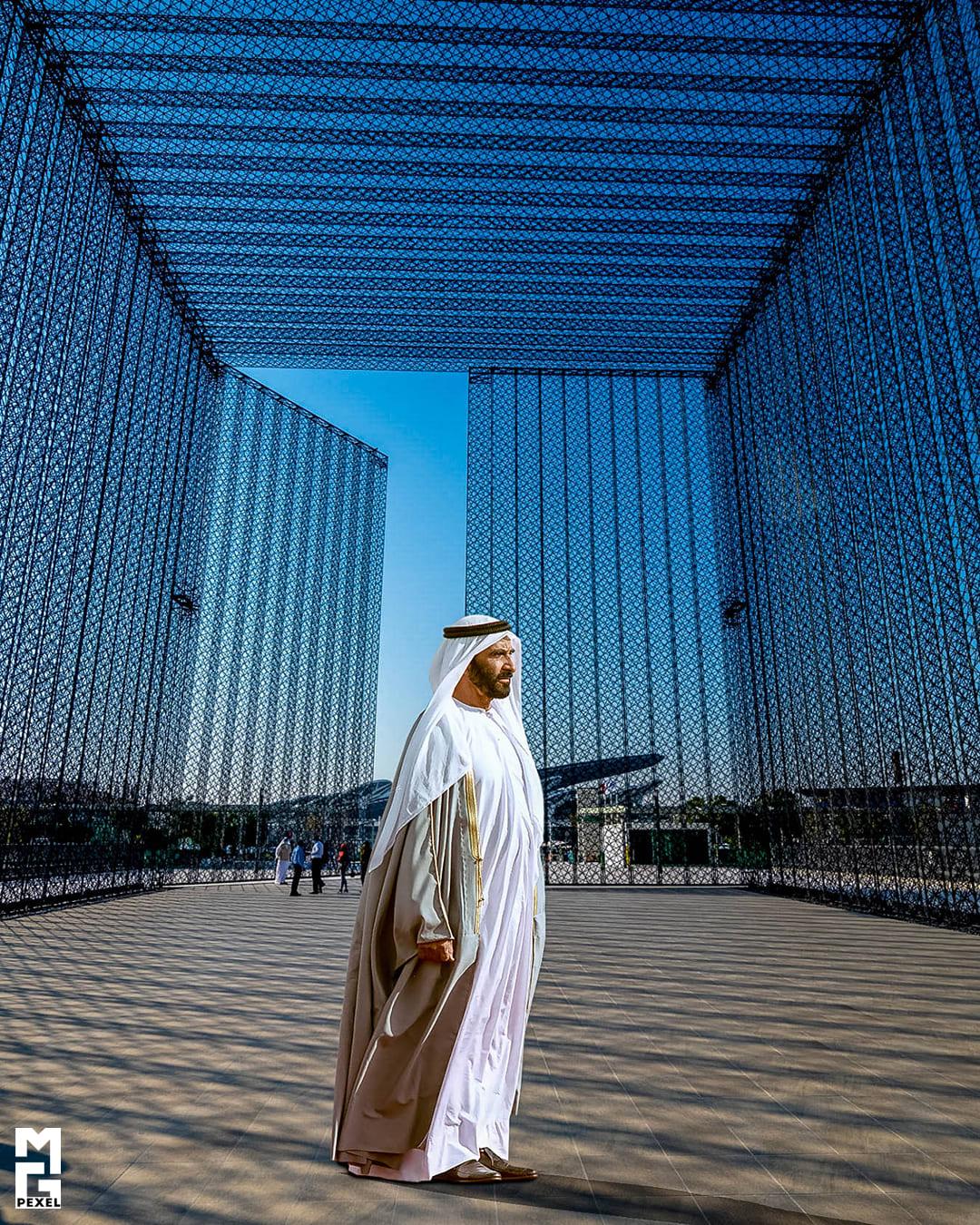 هكذا ظهر الشيخ زايد في موقع إكسبو 2020