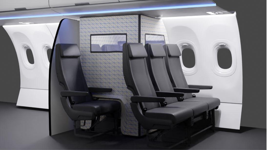 """حجر صحي على متن طائرة؟ """"إيرباص"""" تصمم خيمة خاصة لعزل مرضى كورونا المحتملين"""