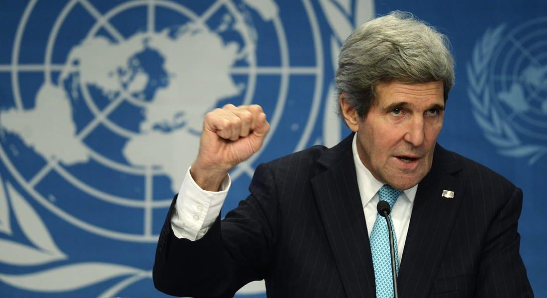 كيري بجنيف2: لا يمكن تحقيق السلام طالما بشار الأسد بالسلطة