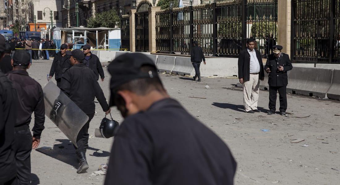 إصابة شخص بانفجار قنبلة أمام معهد أمناء الشرطة في عين شمس