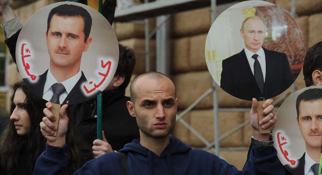 الأسد يعرب عن تضامنه مع بوتين حول الأزمة الأوكرانية