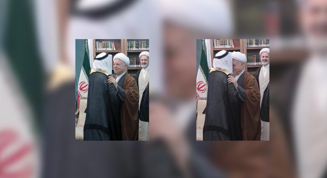 """جدل على تويتر بشأن """"تقبيل"""" السفير السعودي رأس رفسنجاني"""