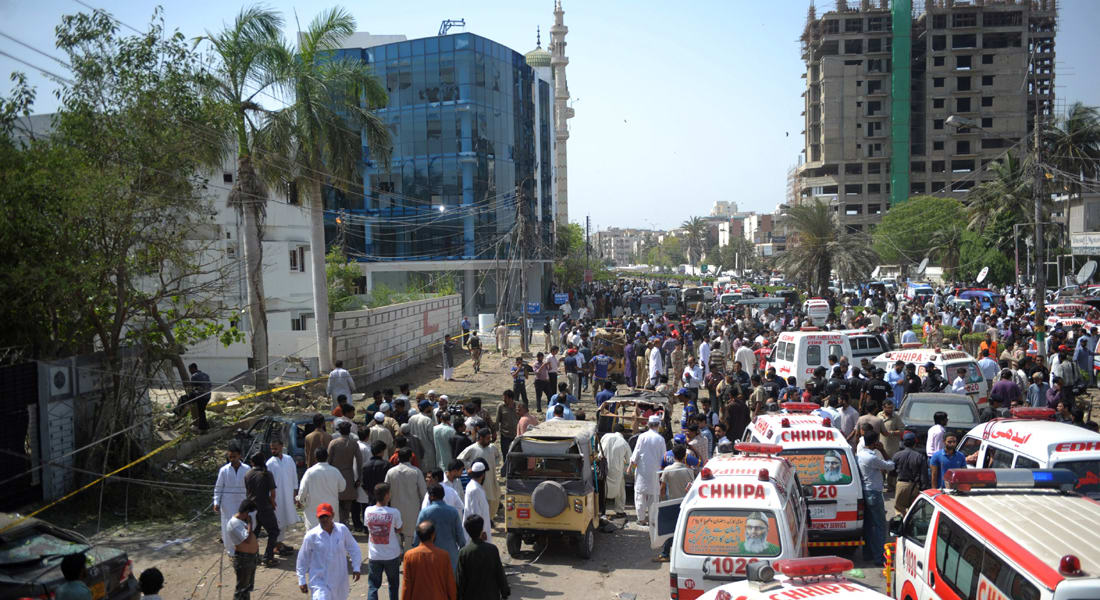 باكستان: 4 قتلى و30 جريحاً في انفجار بكراتشي