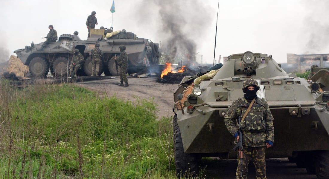 """الأزمة الأوكرانية تشتعل.. معارك في """"سلافيانسك"""" وفقدان الاتصال بمبعوث بوتين"""