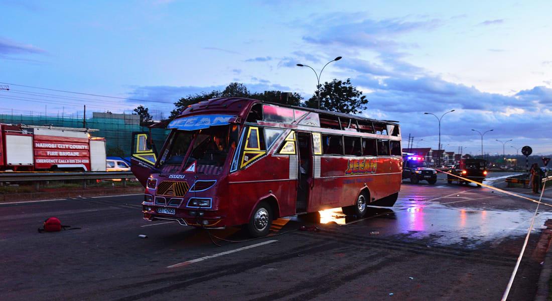كينيا: 3 قتلى بتفجير حافلة بالعاصمة نيروبي