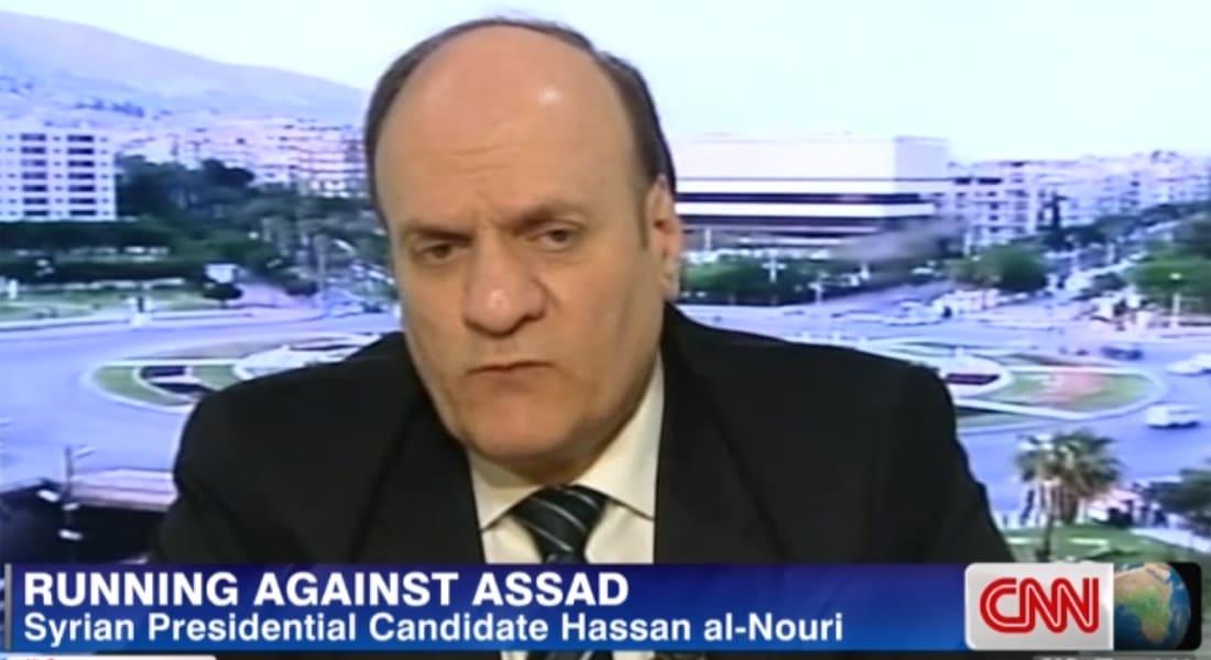 المرشح الرئاسي حسان النوري لـCNN: أتمنى رحيل الأسد.. لكني أؤيد مكافحته للإرهاب