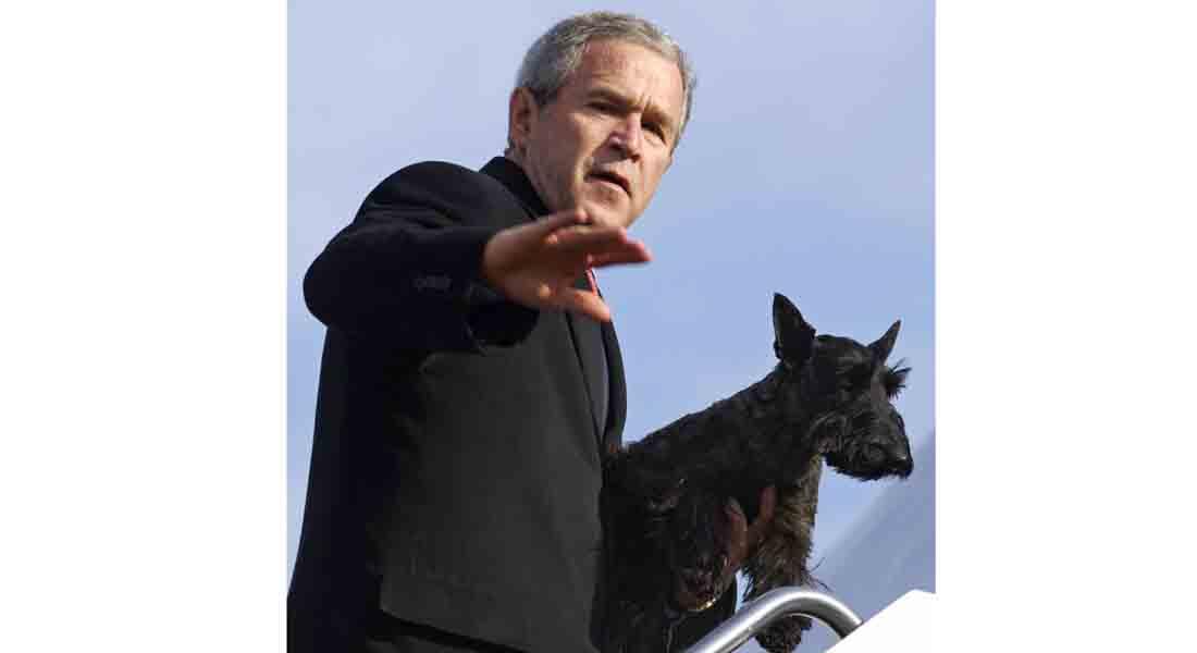 """عائلة جورج بوش بحداد بعد وفاة كلبتهم """"ميس بيزلي"""""""