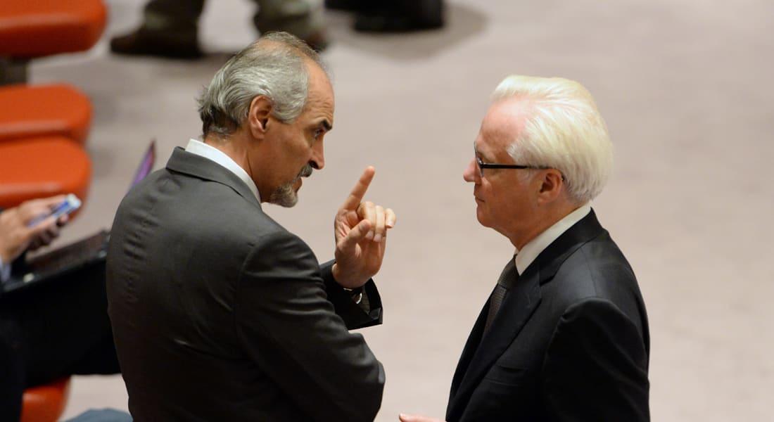 """الجعفري يصف فرنسا بالشخصية الشريرة  """"مستر هايد"""" ويطالبها بتعويض الشعب السوري"""