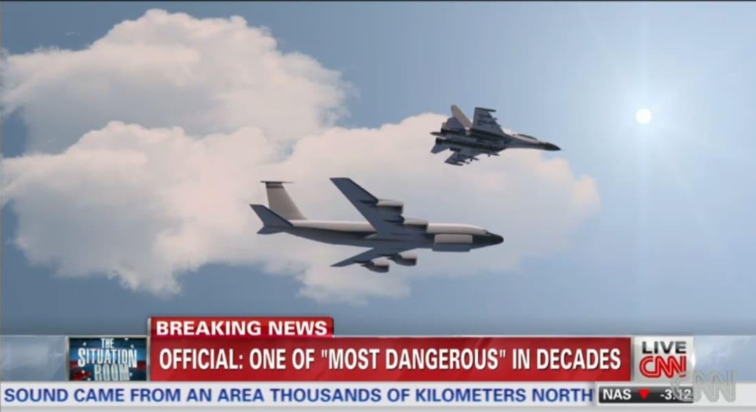 مقاتلة روسية تحلق فوق طائرة استطلاع أمريكية بأخطر مناورة منذ عقود