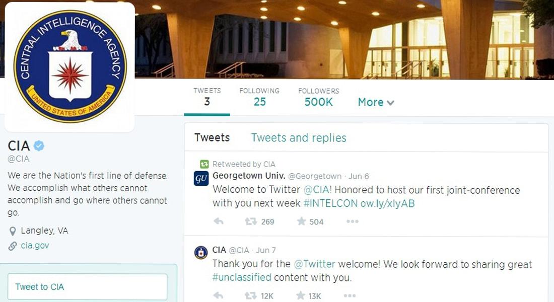 مغرّد معلقاً على انضمام CIA لتويتر: الأخ الأكبر يراقبكم