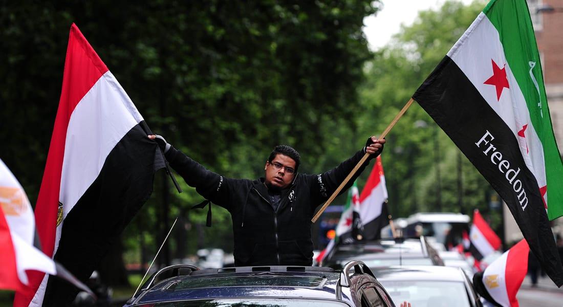 مصر: الحبس المشدد لـ13 معارض سوري بتهمة التجمهر بالقاهرة