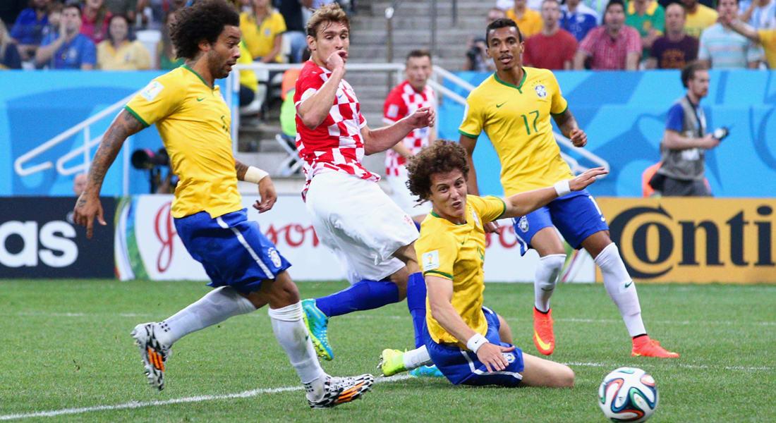 البرازيل تحقق أول فوز بكأس العالم 2014 على كرواتيا بثلاثة أهداف لهدف