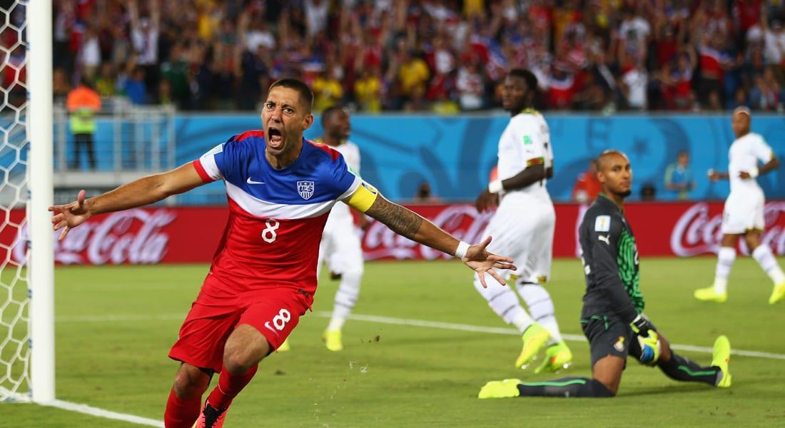 أمريكا تحقق أول فوز لها بمونديال 2014 على غانا بهدفين لهدف