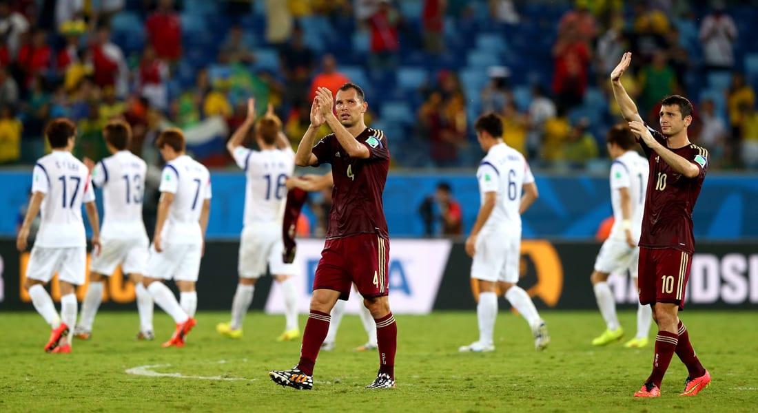 كأس العالم: نهاية لقاء روسيا وكوريا الجنوبية بالتعادل الذي يصب في صالح الجزائر