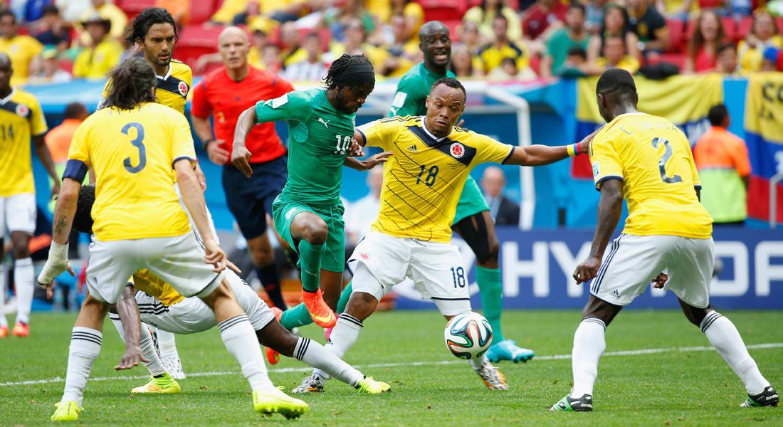 البرازيل 2014.. كولومبيا تتأهل لدور الـ16 بالفوز على ساحل العاج