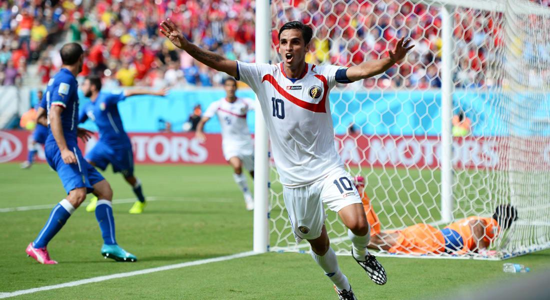 كأس العالم 2014.. كوستاريكا تفوز على إيطاليا وتتأهل لدور الـ16 وتقصي إنجلترا