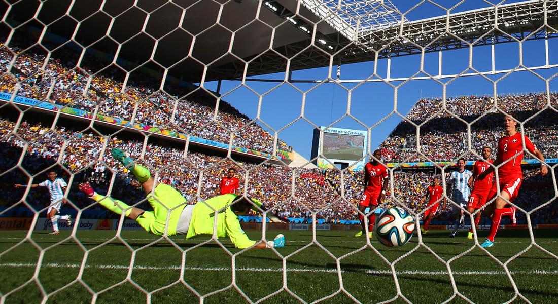 كأس العالم 2014.. الأرجنتين للدور ربع النهائي على حساب سويسرا بصعوبة