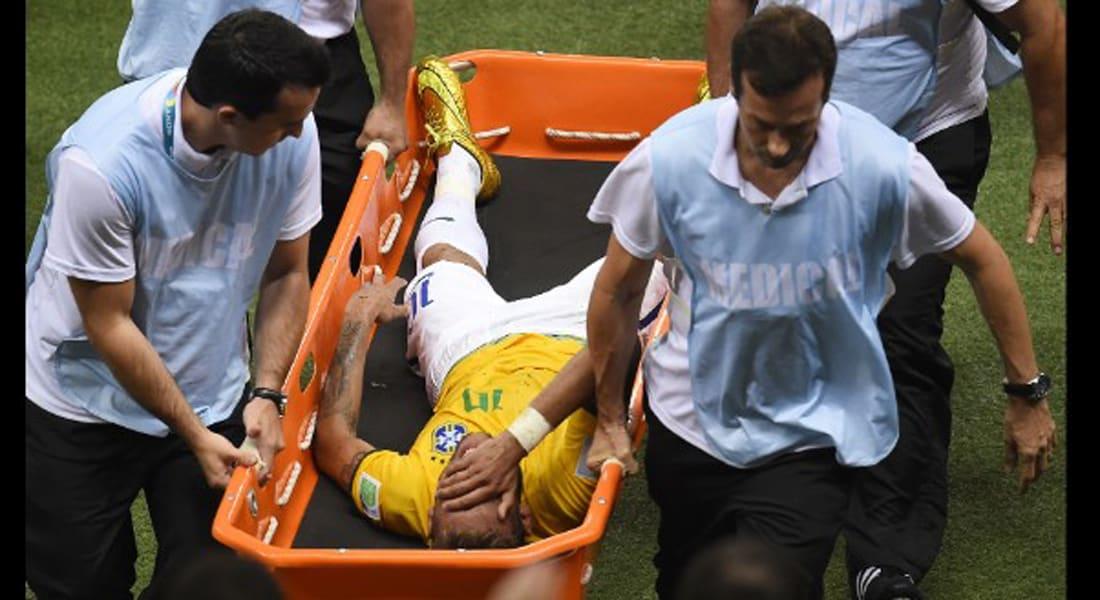 إصابة بالظهر تخرج نيمار رسميا من كأس العالم بالبرازيل