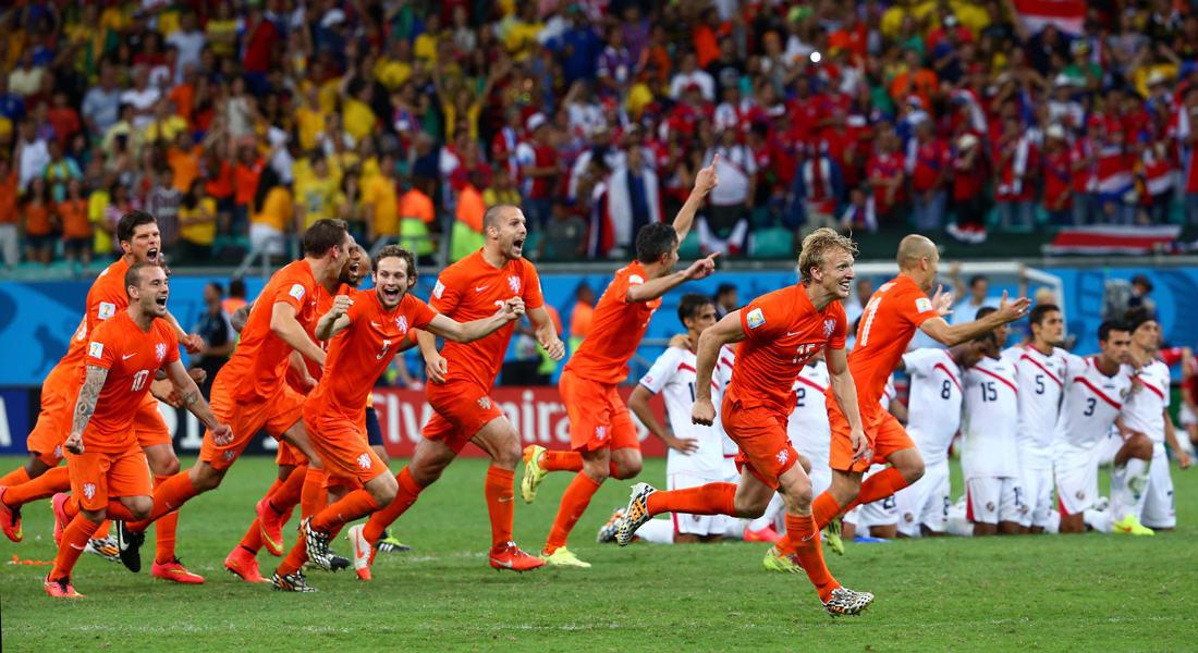 كأس العالم 2014: هولندا لنصف النهائي بركلات الترجيح أمام كوستاريكا