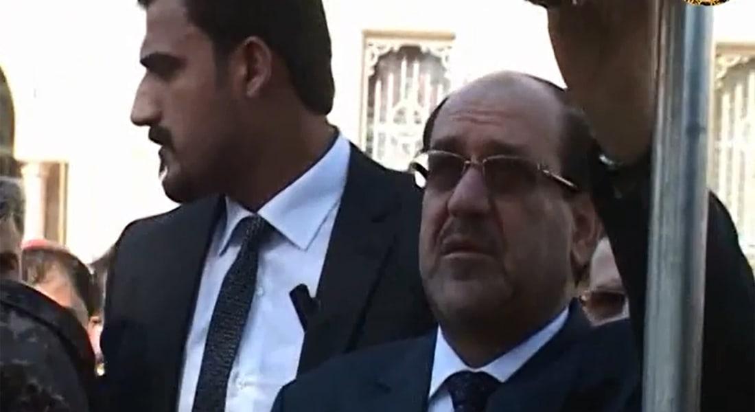 بالفيديو.. المالكي يشارك بتشييع جثمان قائد الفرقة السادسة نجم عبدالله