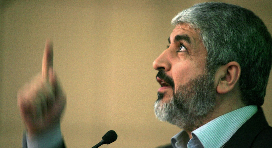 """خالد مشعل: مقتل الإسرائيليين الـ3 غضب فلسطيني.. """"بورك هذا الغضب"""""""