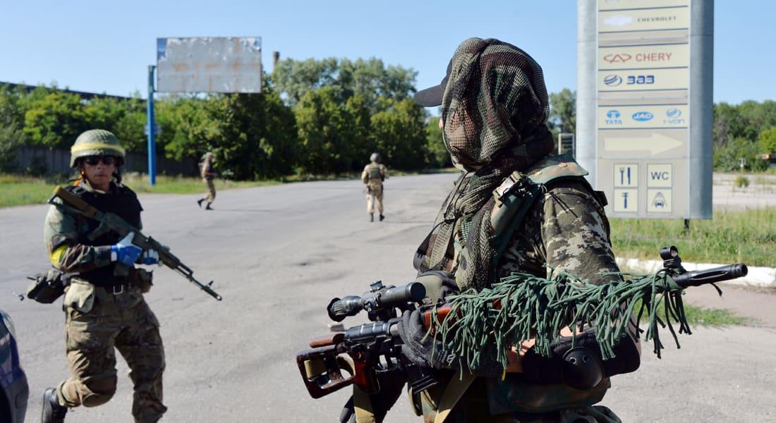 مقتل 13 أوكرانيا بينهم طفلان في هجوم للانفصاليين بالصواريخ على مدينة هورليفكا