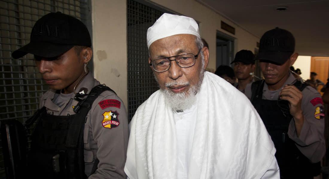 """إندونيسيا تنفي مبايعة """"أبوبكر باعشير"""" لداعش وخليفتها وتؤكد ملاحقة أفكار التنظيم على أرضها"""