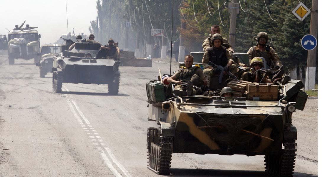 """أوكرانيا: الجيش يخسر """"ميغ 29"""" ويحقق انتصارات بالشرق وصواريخ """"غراد"""" روسية للانفصاليين"""