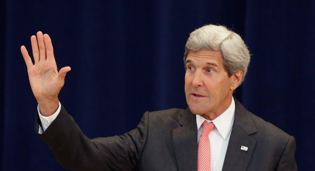 """كيري يستهل من بغداد جولة لحشد الدعم الإقليمي لمجابهة """"داعش"""""""