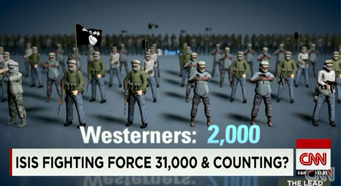 """وكالة الاستخبارات المركزية الأمريكية: مقاتلو """"داعش"""" تضاعفوا لأكثر من 31 ألف مقاتل"""