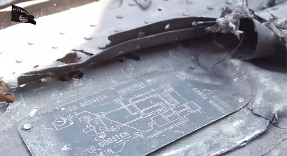 بالفيديو.. داعش يظهر المقاتلة السورية التي أسقطتها مضادات التنظيم فوق الرقة