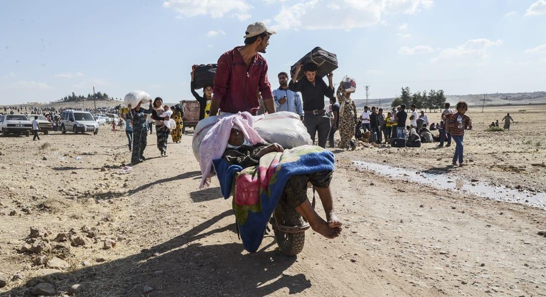 """""""داعش"""" يسيطر على 60 قرية في """"عين العرب"""" و""""مأساة إنسانية"""" جديدة للأكراد بشمال سوريا"""