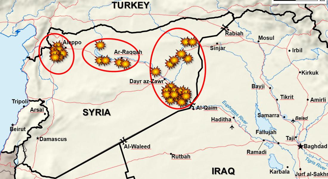 بالفيديو.. قيادة الجيش الأمريكي تنشر مقطعا لضرب معاقل لداعش بسوريا