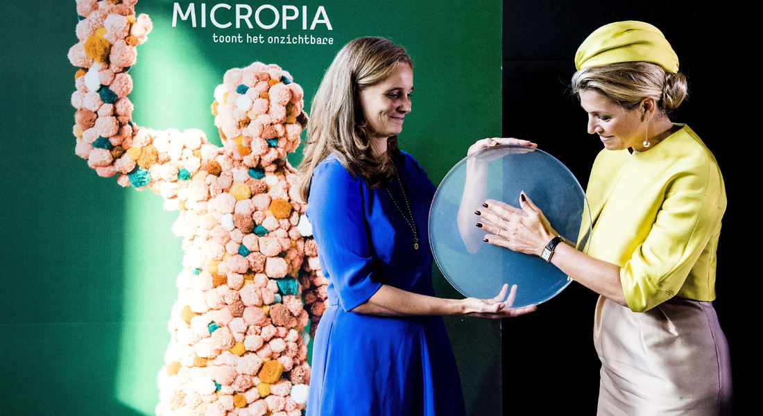 """ملكة هولندا تفتتح أول حديقة ميكروبات في العالم... حقائق """"جميلة"""" عن البكتيريا"""