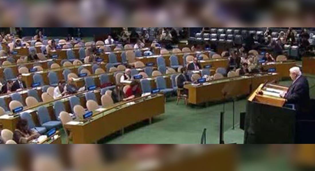 صفحة السفارة الأمريكية بسوريا تشتعل بالتعليقات بعد صورة المعلم بنيويورك: مقاعد فارغة لكلام فارغ