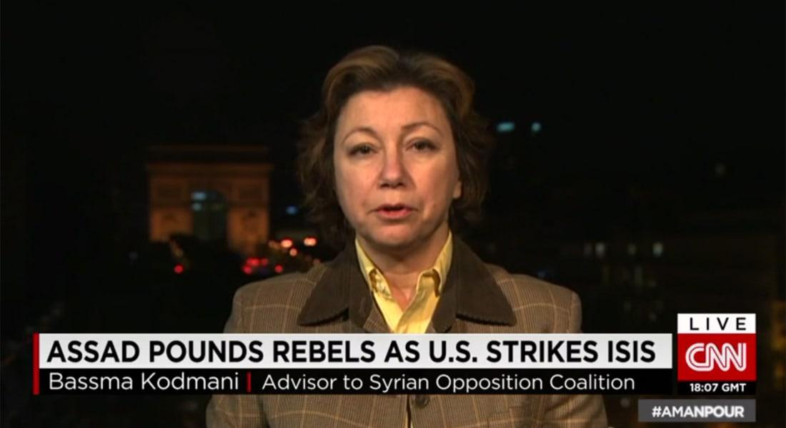 مستشارة بالائتلاف السوري المعارض لـCNN: الأسد كان ينتظر الغارات الأمريكية التي سمحت له بالتقدم لمناطق الثوار والجيش الحر