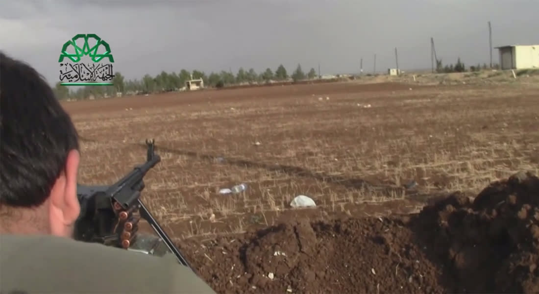 بالفيديو.. اشتباكات الجبهة الإسلامية وداعش في دابق بسوريا