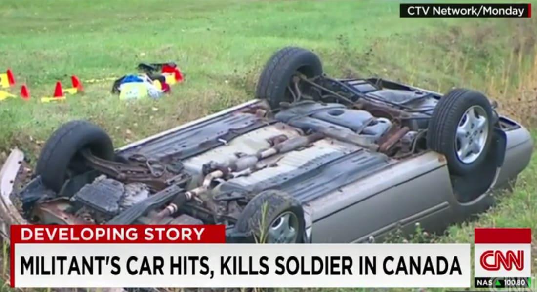 """مقتل كندي اعتنق """"الإسلام المتشدد"""" بعد دهسه جنديين من الجيش بسيارته"""
