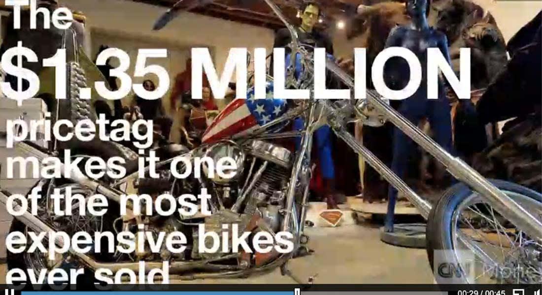 """دراجة """"كابتن أمريكا"""" النارية.. تتجاوز التوقعات وتباع بـ1.3 مليون دولار"""