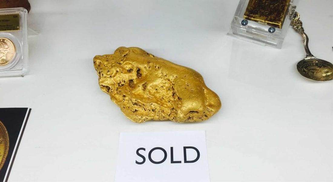 هذه الكتلة الخام من الذهب بيعت بـ400 ألف دولار
