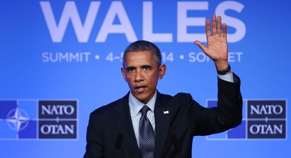 """أوباما يؤكد توافق قادة الناتو على تصفية """"داعش"""" ودعم وحدة وسيادة أوكرانيا"""