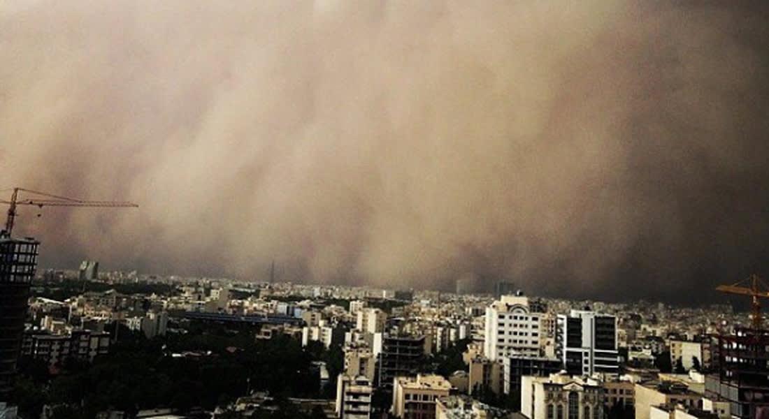 طهران تغرق وسط عاصفة رملية غير مسبوقة تخلف 5 قتلى