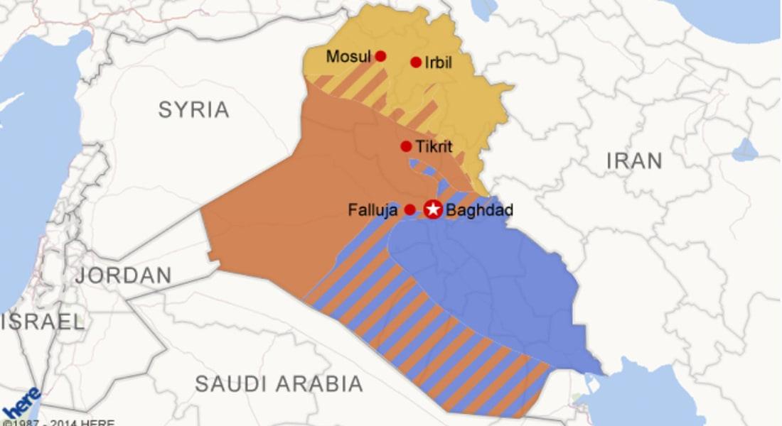 خارطة العراق بحسب التقسيمات الطائفية والعرقية